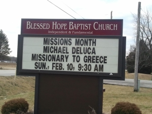 Blessed Hope's Baptist's Sign